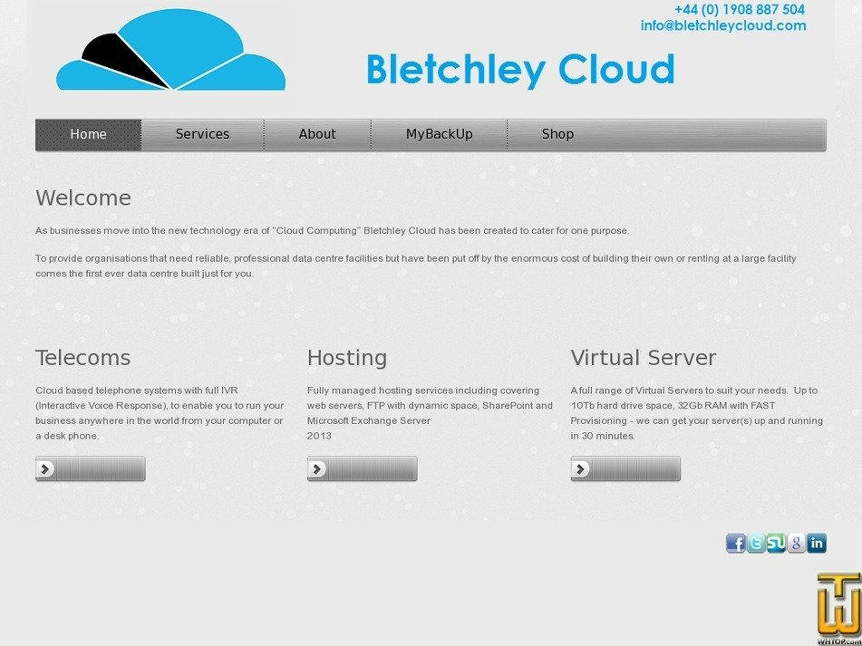 bletchleycloud.com Screenshot