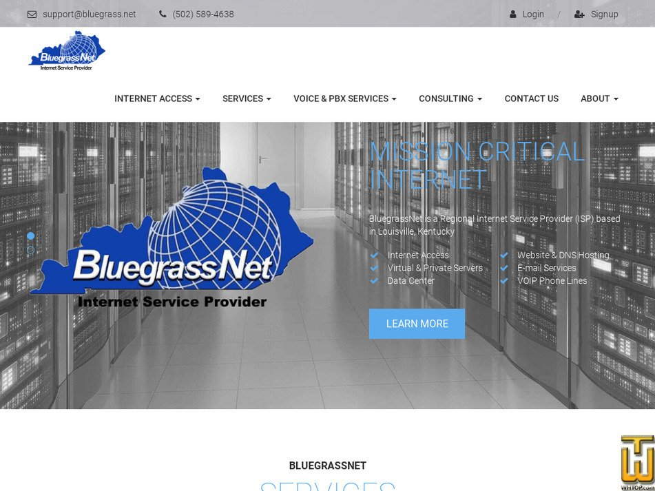 bluegrass.net Screenshot