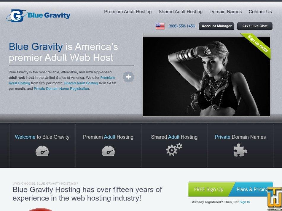 bluegravityhosting.com Screenshot