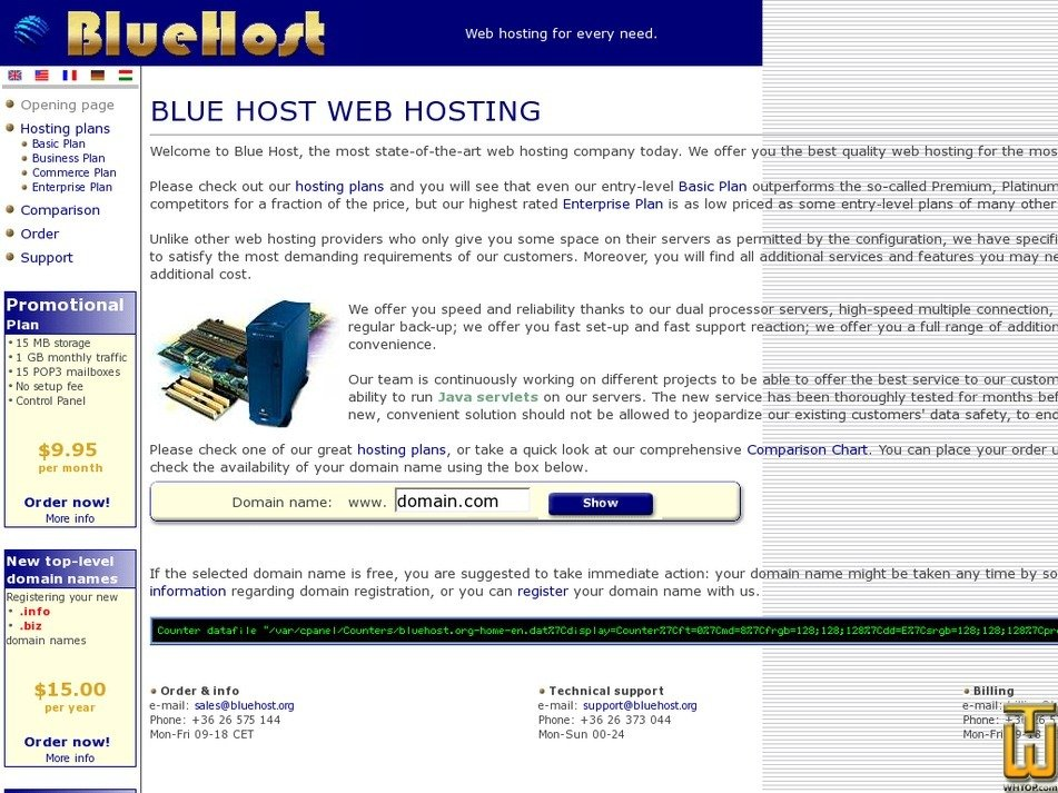 bluehost.org Screenshot