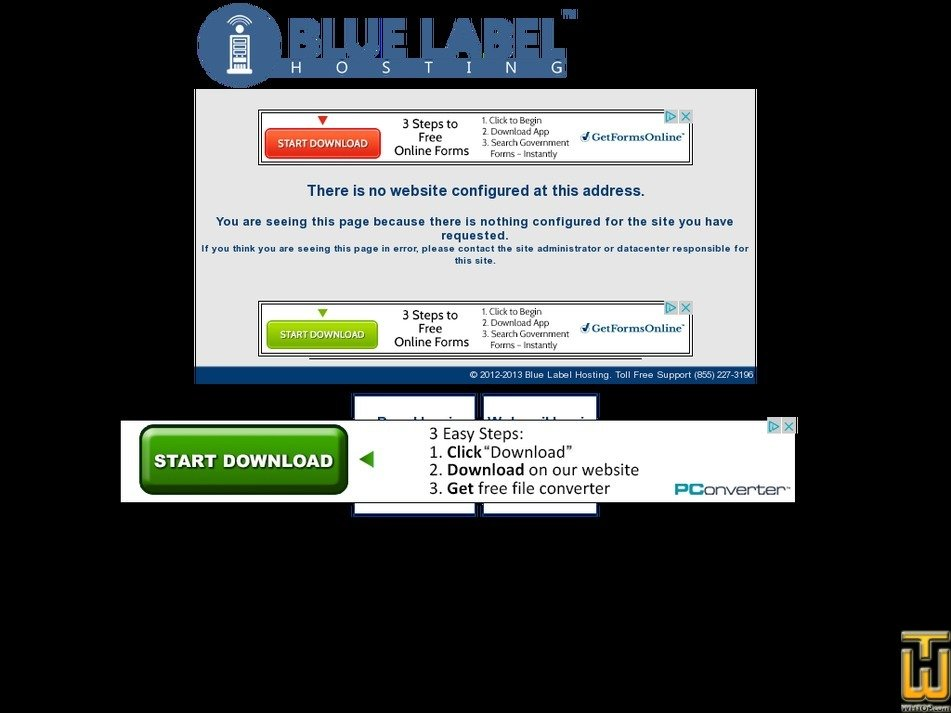 bluelabelhost.com Screenshot