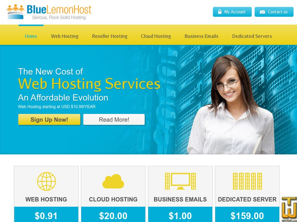 bluelemonhost.com Screenshot