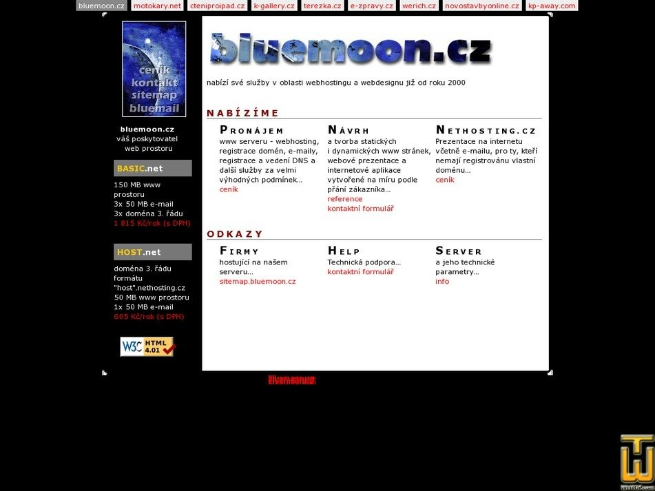 bluemoon.cz Screenshot