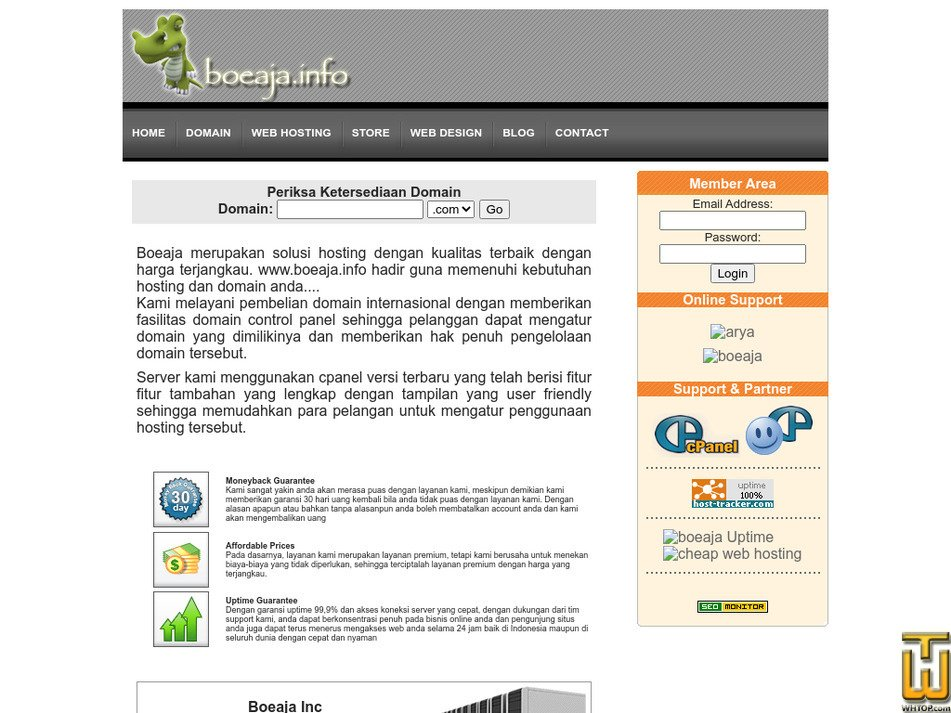 boeaja.info Screenshot