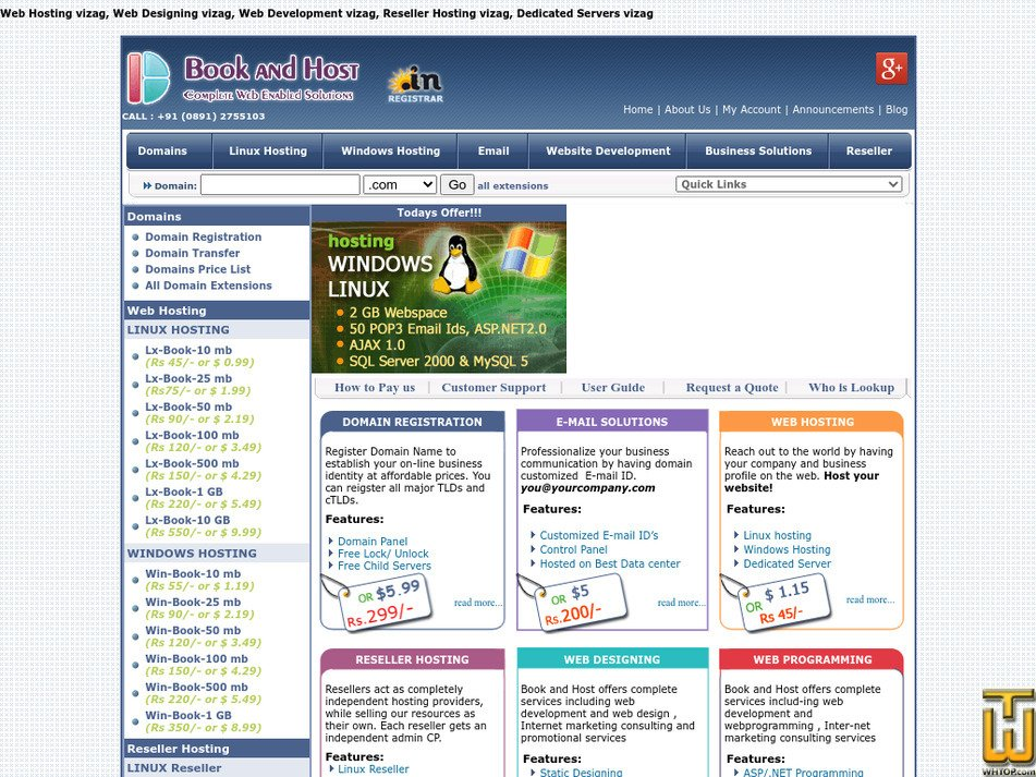 bookandhost.com Screenshot