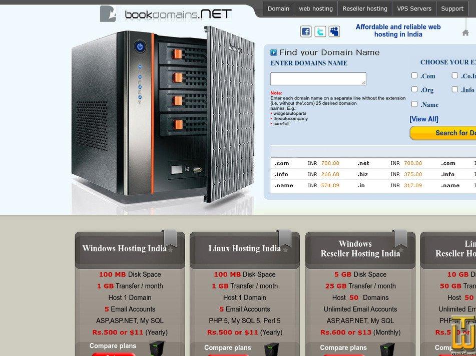bookdomains.net Screenshot