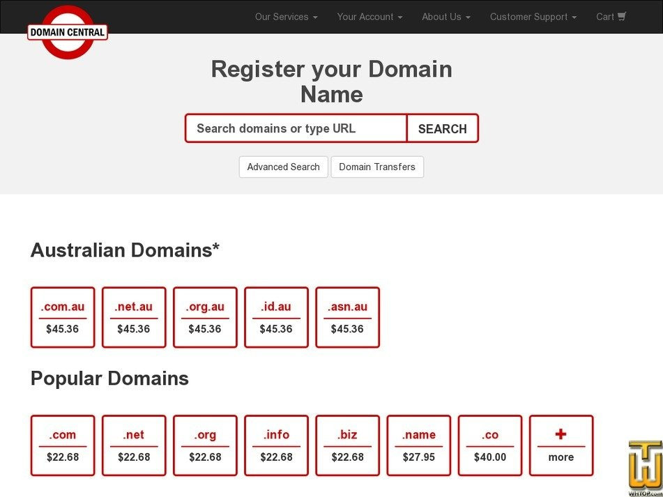 bottledomains.com.au Screenshot