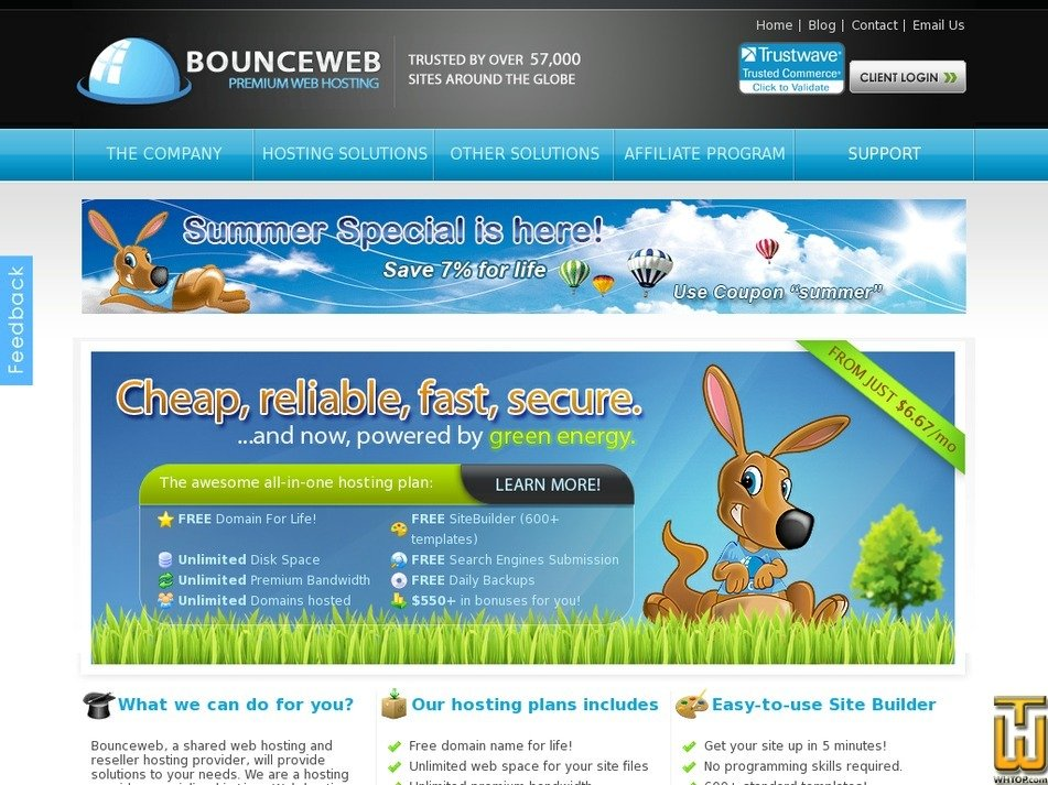 bounceweb.com Screenshot