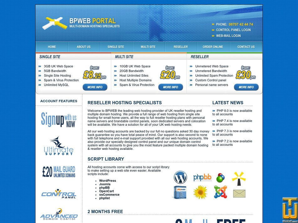 bpweb.net Screenshot