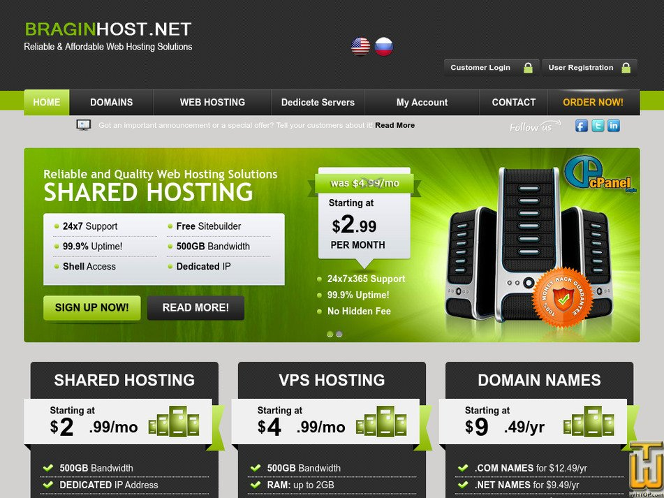 braginhost.net Screenshot