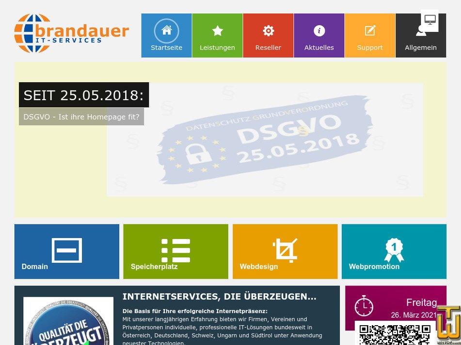 brandauer.net Screenshot