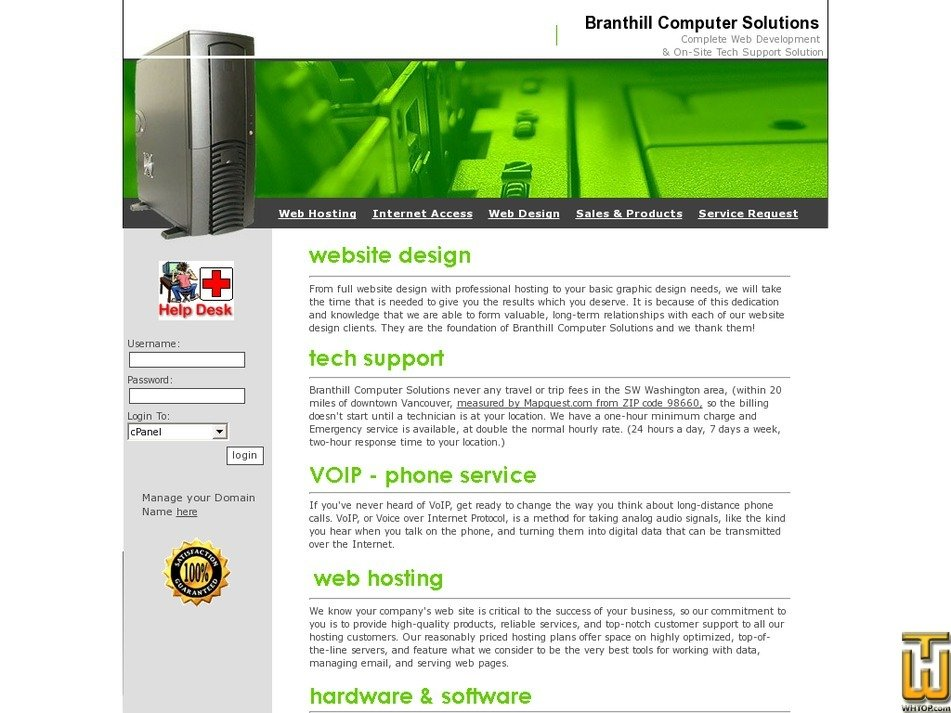 branthill.com Screenshot
