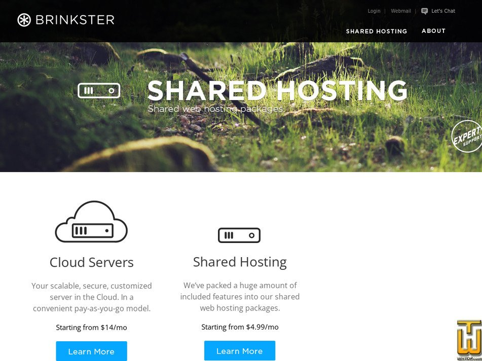 brinkster.com Screenshot