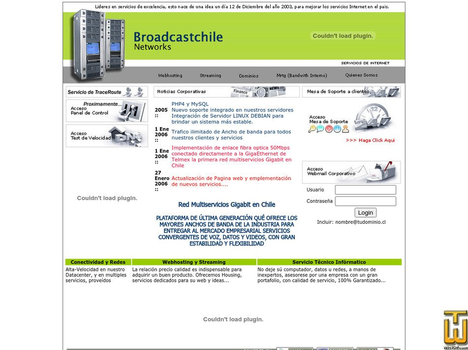 broadcastchile.cl Screenshot