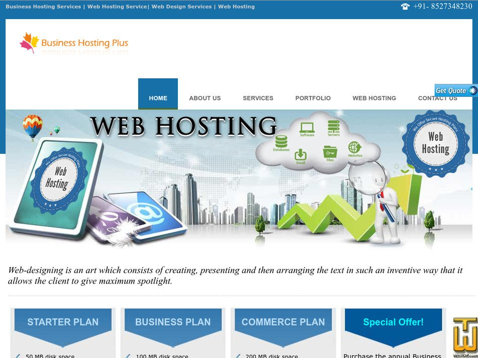 businesshostingplus.com Screenshot