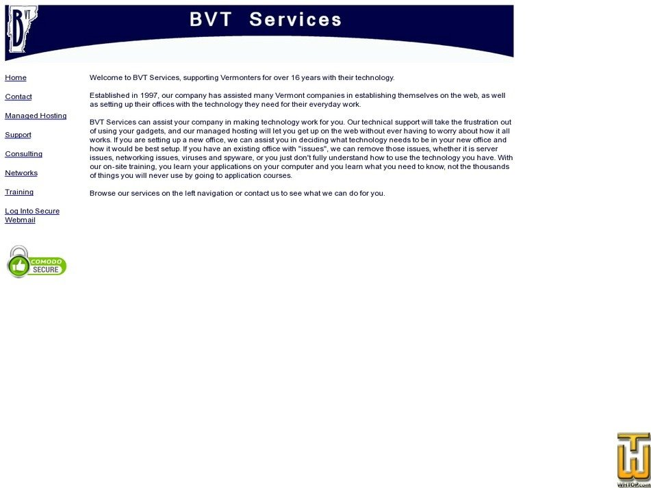 bvtservices.com Screenshot