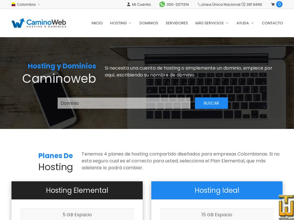 caminoweb.com Screenshot
