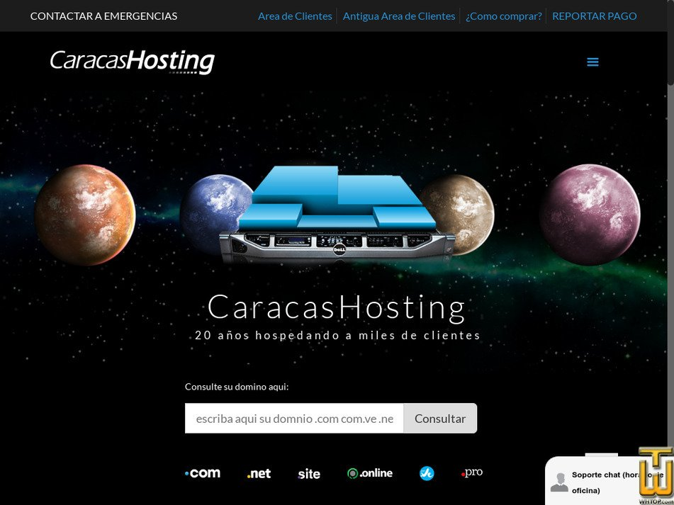 caracashosting.com Screenshot