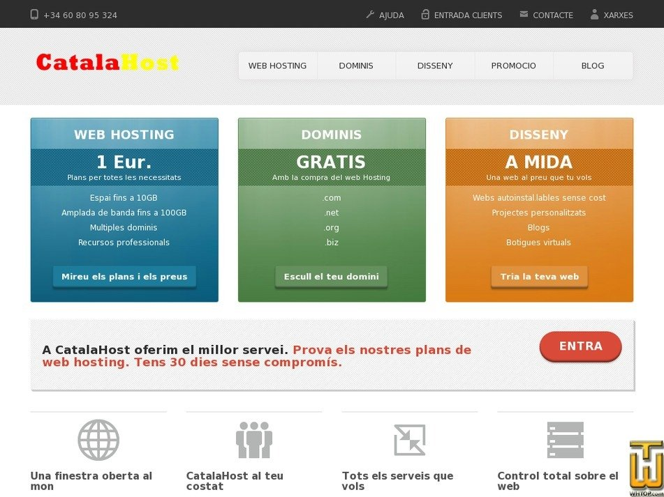 catalahost.com Screenshot