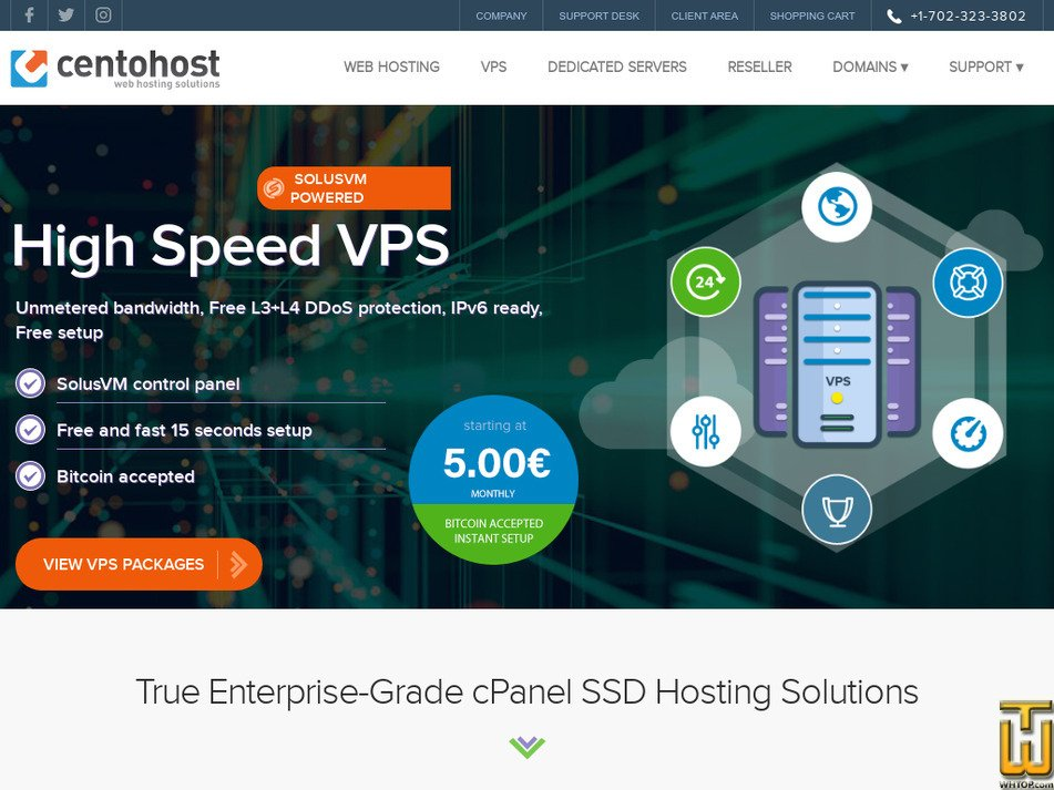 centohost.com Screenshot