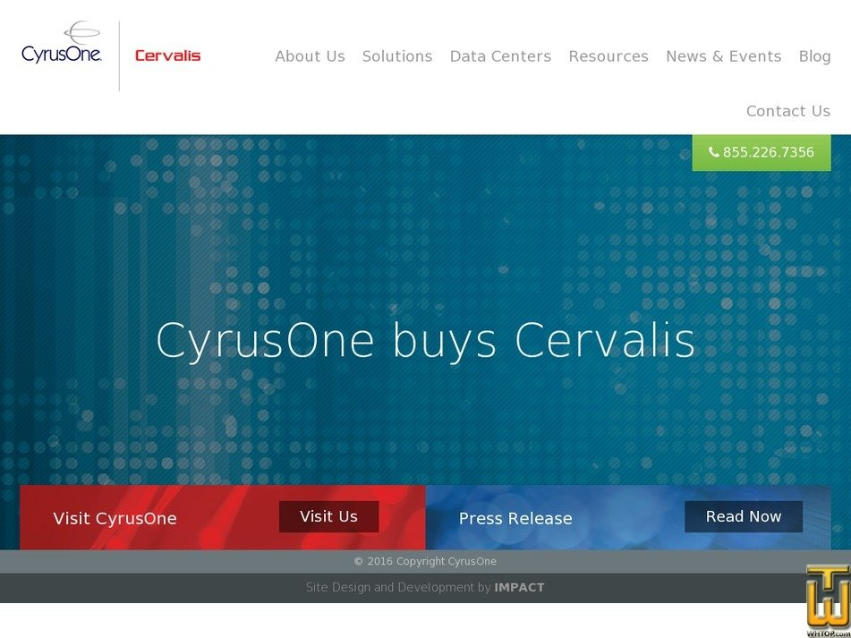 cervalis.com Screenshot