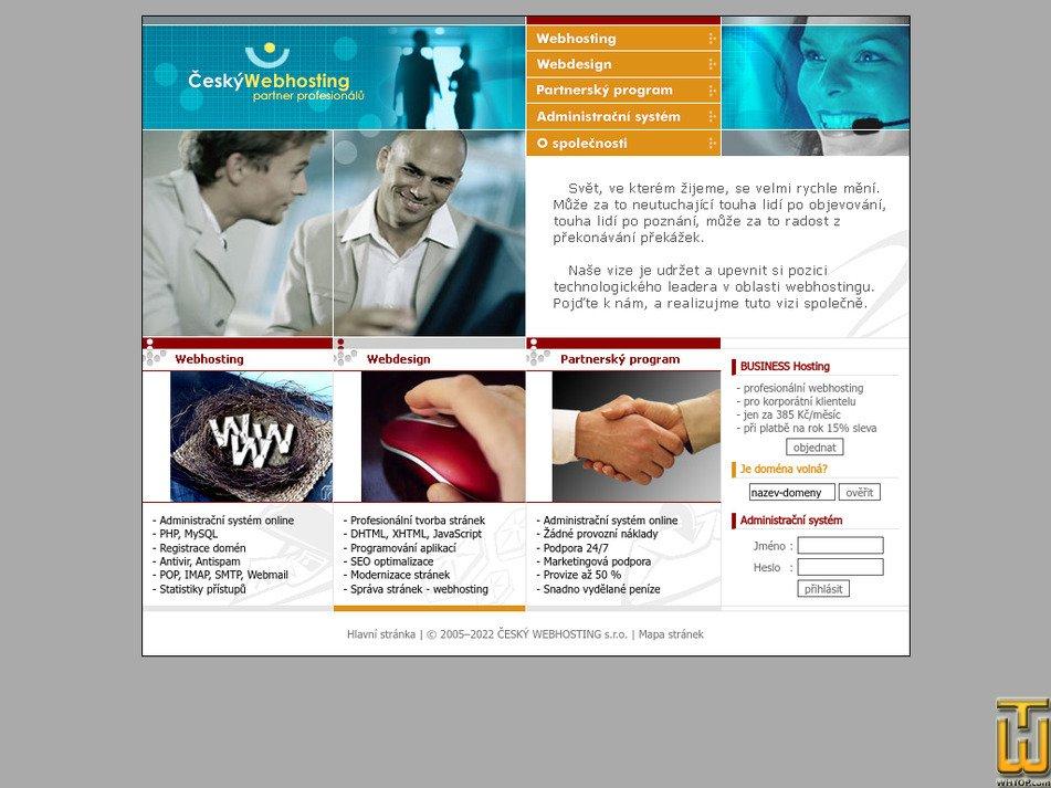 cesky-webhosting.cz Screenshot