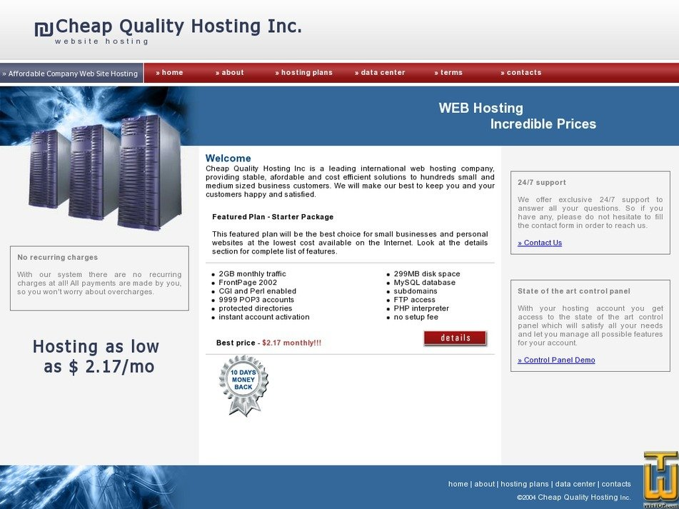 cheapqualityhosting.com Screenshot