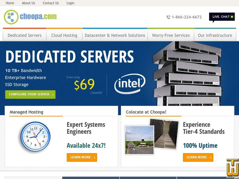 choopa.com Screenshot