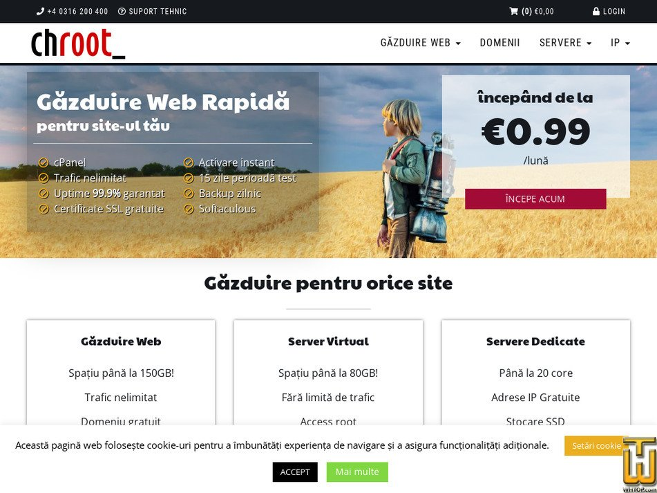 chroot.ro Screenshot
