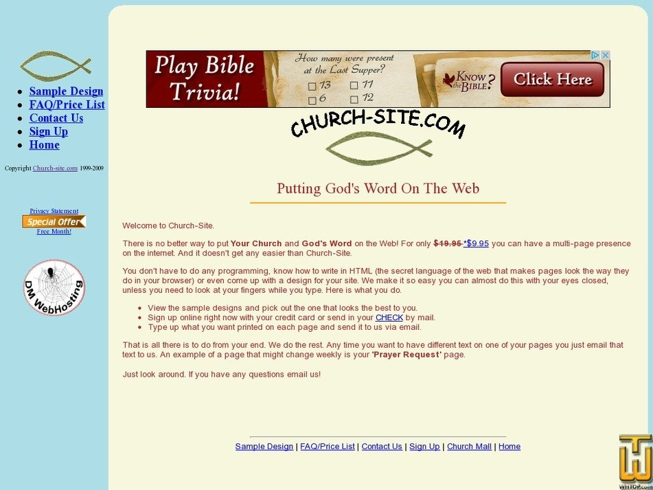 church-site.com Screenshot