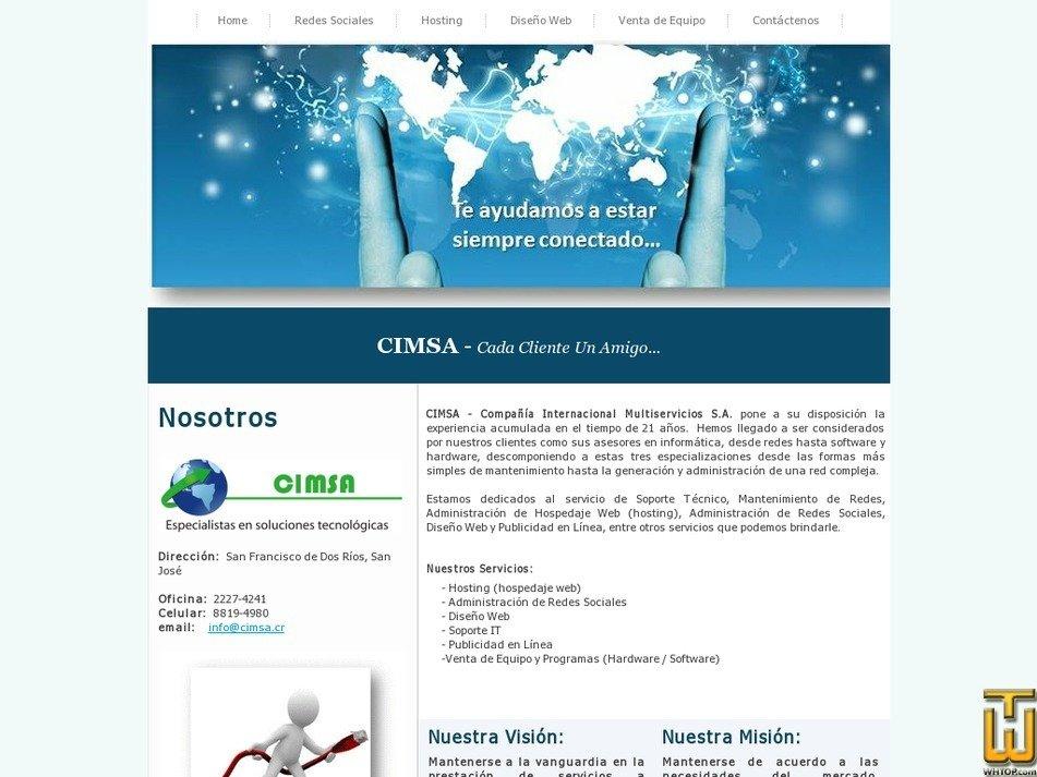 cimsacr.com Screenshot