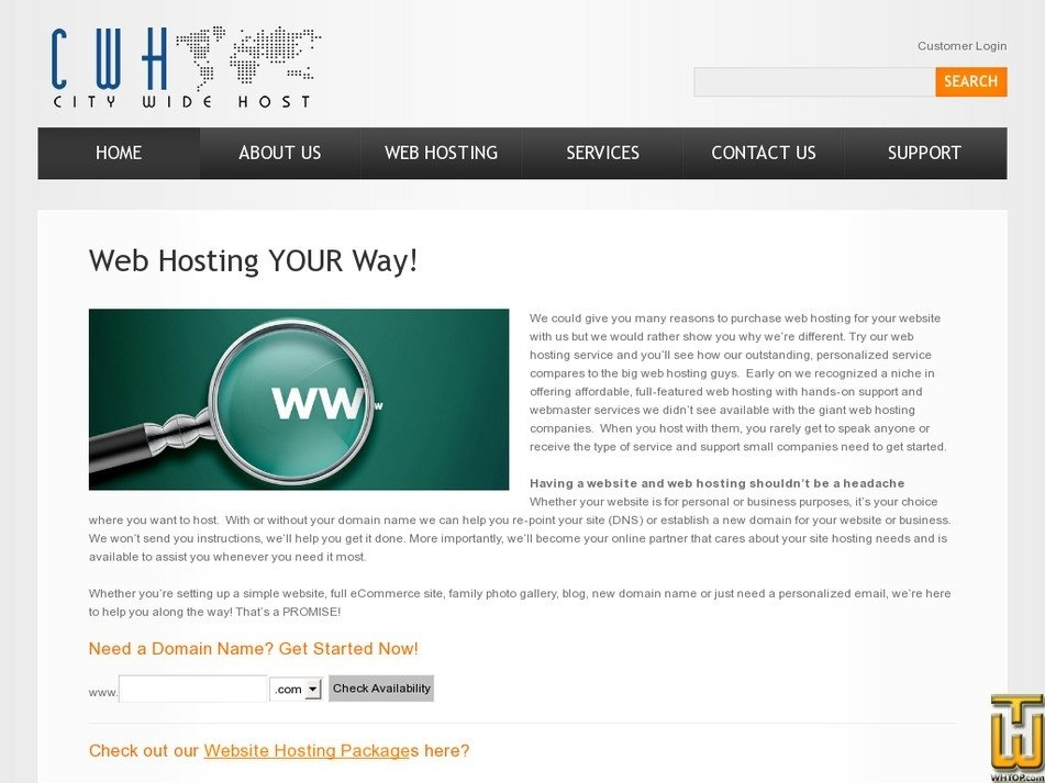 citywidehost.com Screenshot
