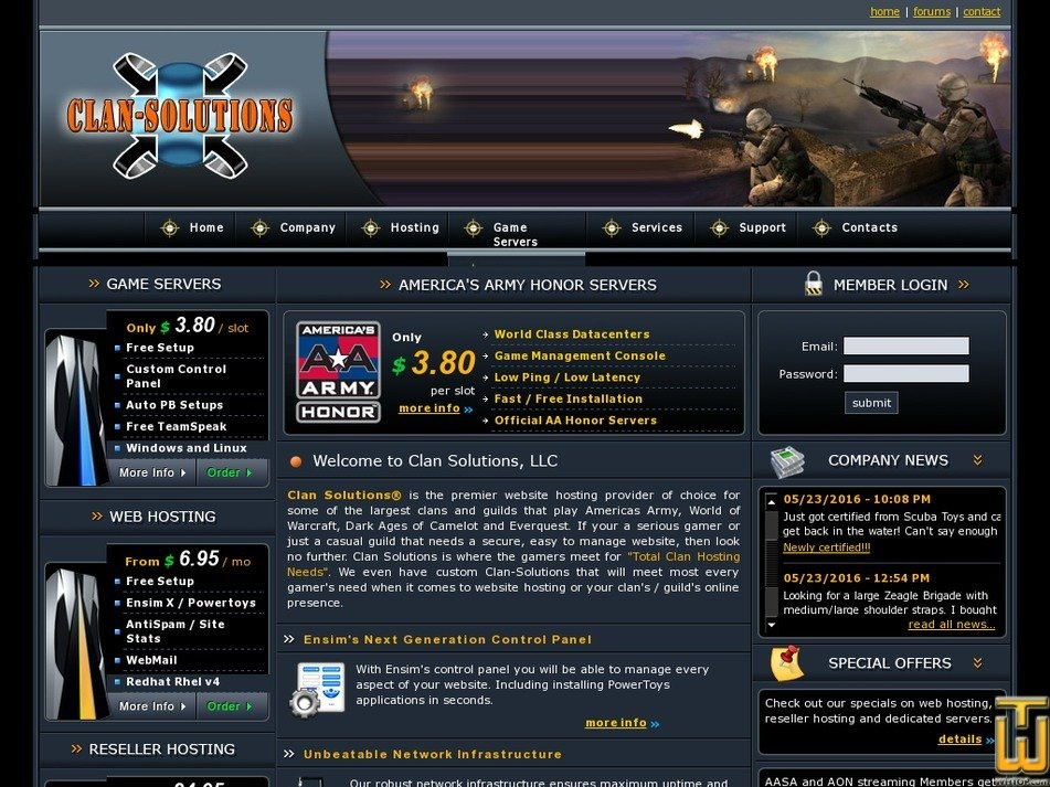 clan-solutions.com Screenshot