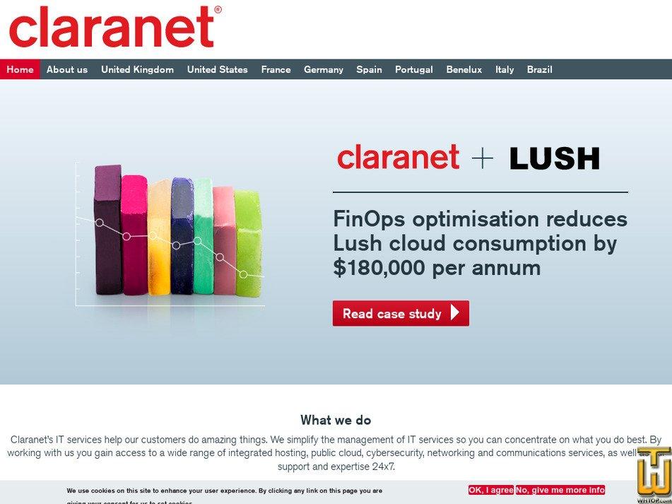claranet.com Screenshot