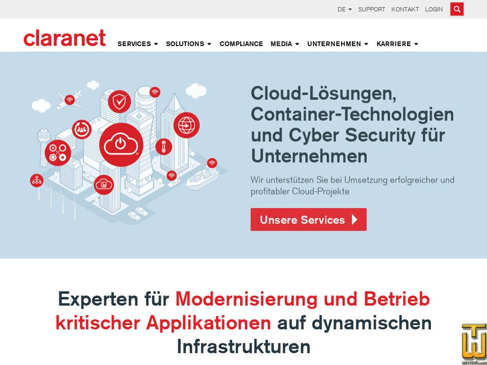 claranet.de Screenshot