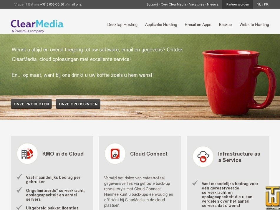 clearmedia.be Screenshot