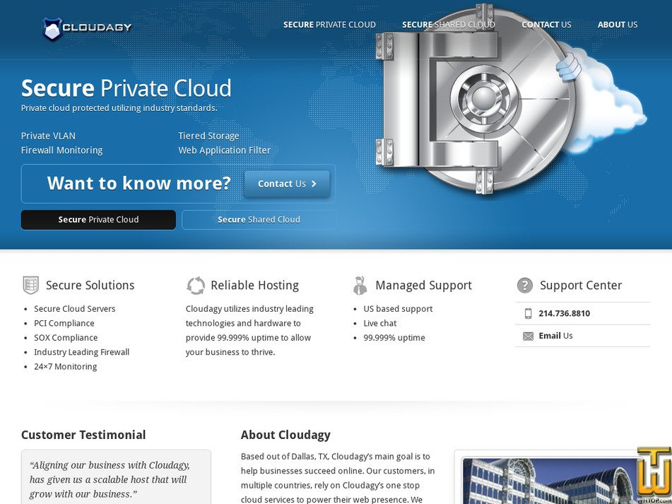 cloudagy.com Screenshot