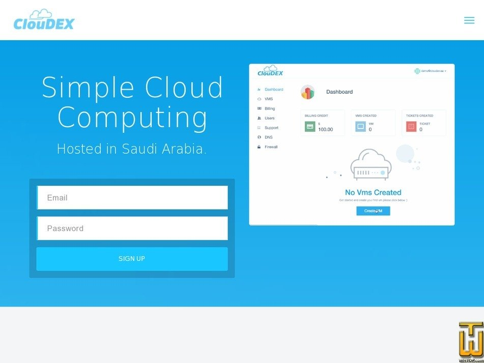 cloudex.sa Screenshot