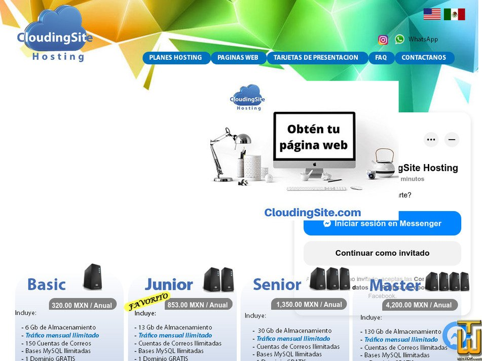 cloudingsite.com Screenshot