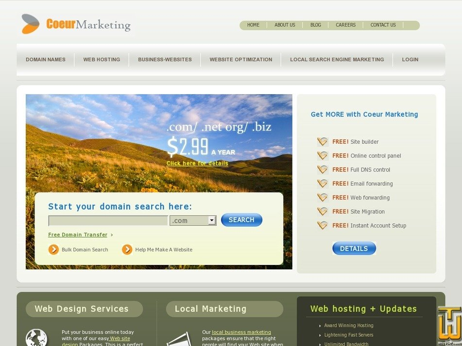 coeurmarketing.com Screenshot