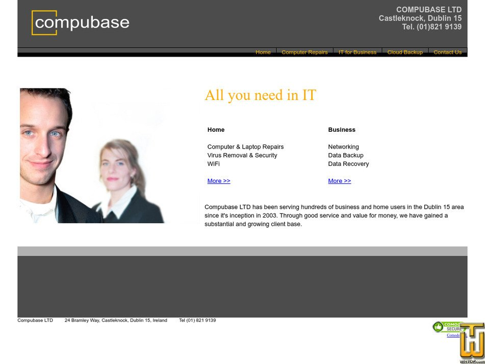 compubase.ie Screenshot