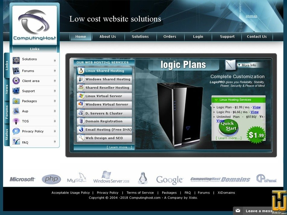 computinghost.com Screenshot