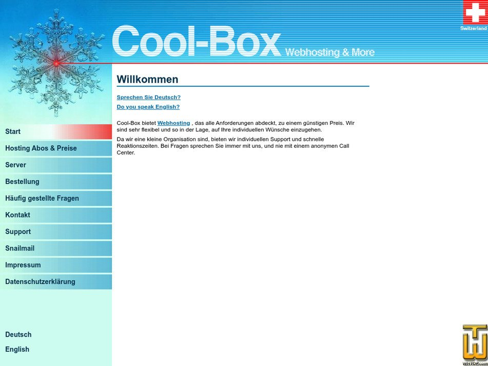 coolbox.ch Screenshot