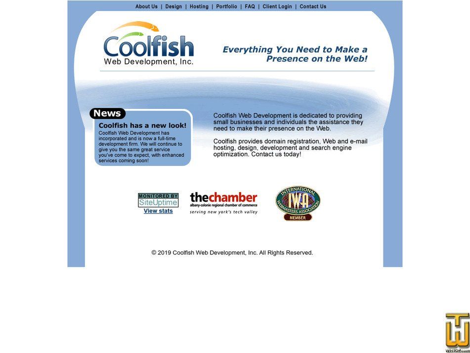 coolfishweb.com Screenshot