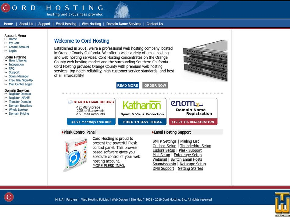 cordhosting.com Screenshot