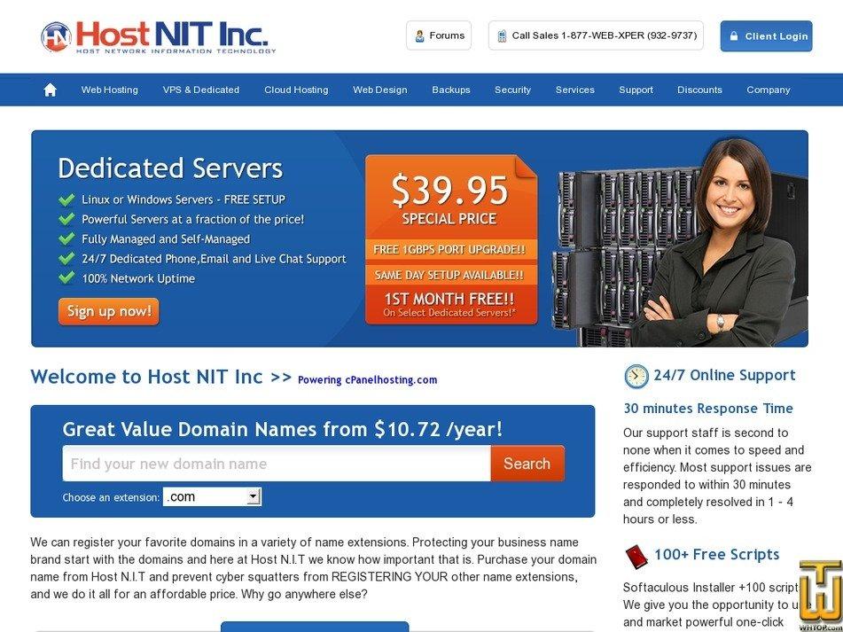 cpanelhosting.com Screenshot