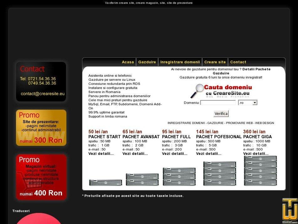 crearesite.eu Screenshot