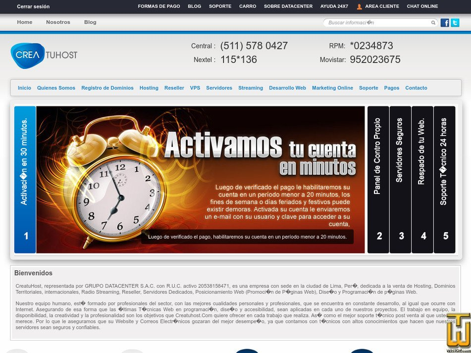 creatuhost.com Screenshot