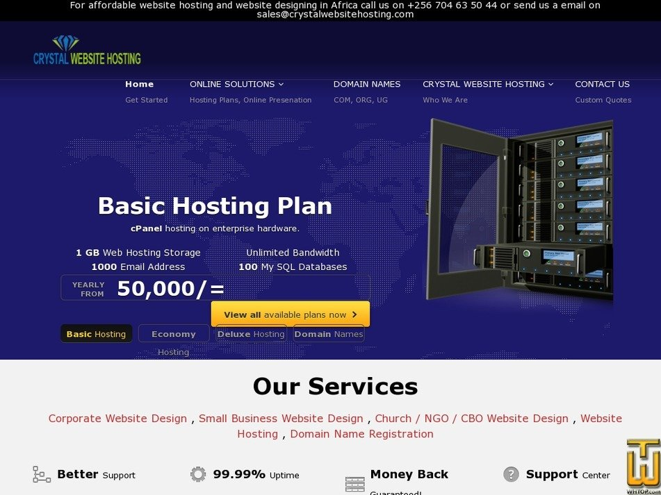 crystalwebsitehosting.com Screenshot