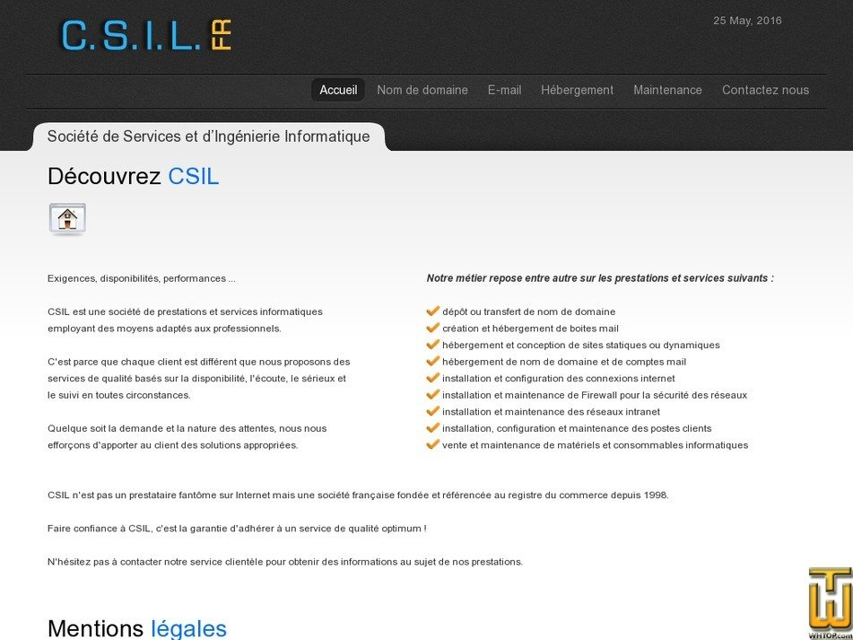 csil.fr Screenshot
